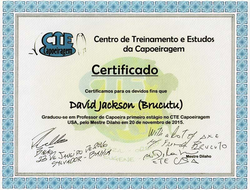 David Jackson Certificado